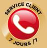 Service clientèle 7 jours/7